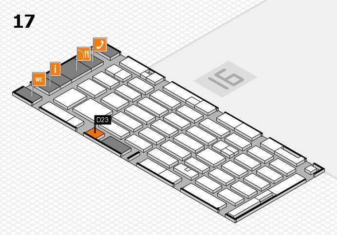 MEDICA 2016 hall map (Hall 17): stand D23