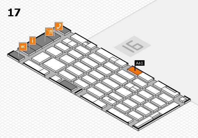 MEDICA 2016 hall map (Hall 17): stand A40