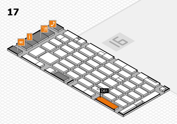 MEDICA 2016 hall map (Hall 17): stand D61