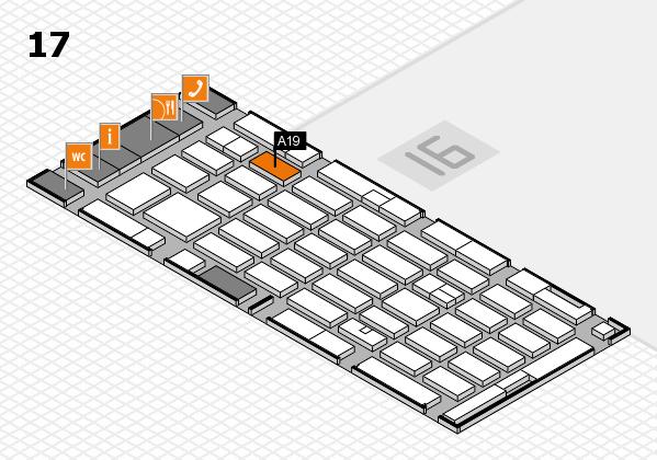 MEDICA 2016 hall map (Hall 17): stand A19