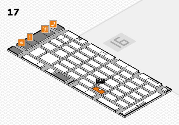 MEDICA 2016 hall map (Hall 17): stand D58
