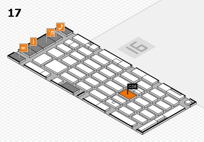 MEDICA 2016 hall map (Hall 17): stand C58