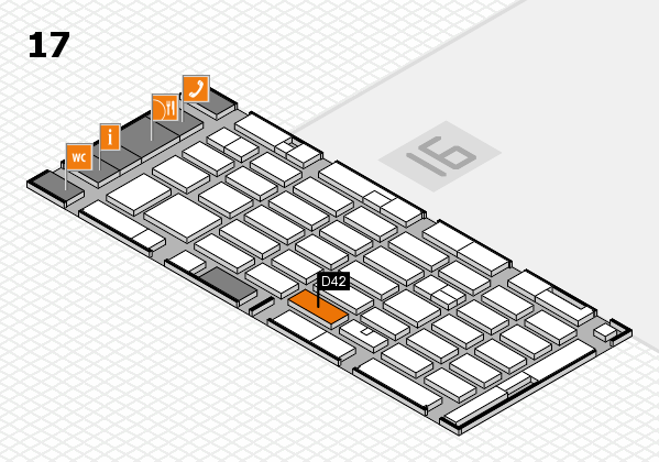 MEDICA 2016 hall map (Hall 17): stand D42