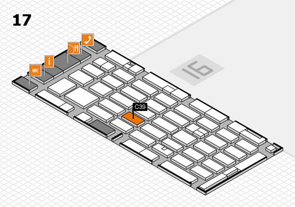 MEDICA 2016 hall map (Hall 17): stand C39