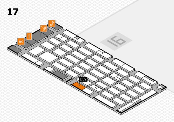 MEDICA 2016 hall map (Hall 17): stand D59