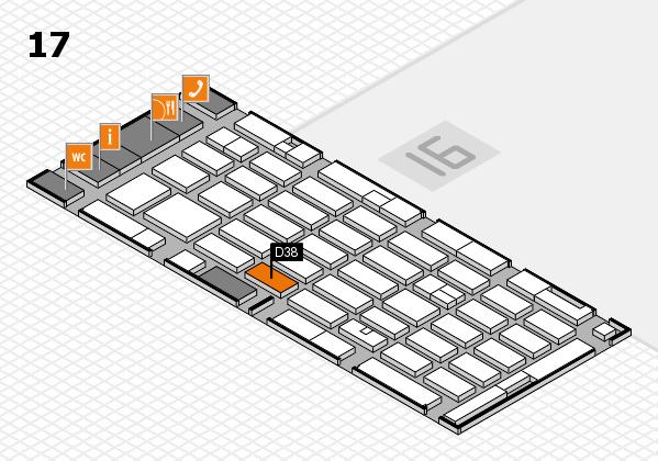 MEDICA 2016 hall map (Hall 17): stand D38