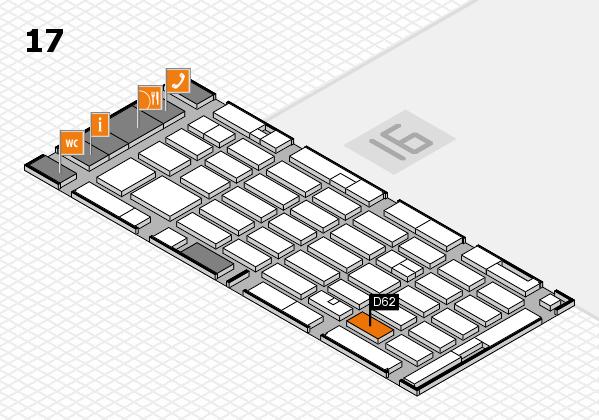 MEDICA 2016 hall map (Hall 17): stand D62
