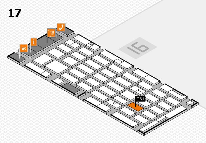 MEDICA 2016 hall map (Hall 17): stand C61
