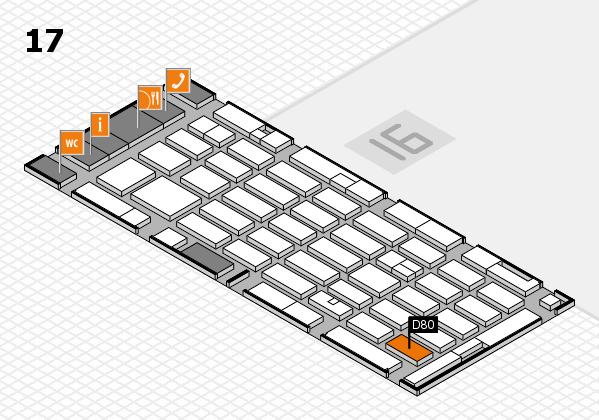 MEDICA 2016 hall map (Hall 17): stand D80