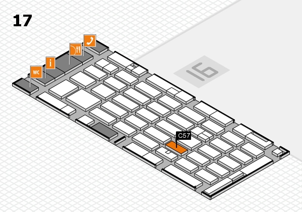 MEDICA 2016 hall map (Hall 17): stand C57