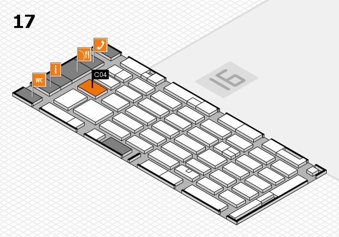 MEDICA 2016 hall map (Hall 17): stand C04
