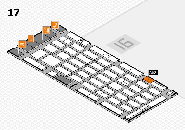 MEDICA 2016 hall map (Hall 17): stand A62