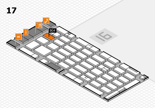MEDICA 2016 hall map (Hall 17): stand B04