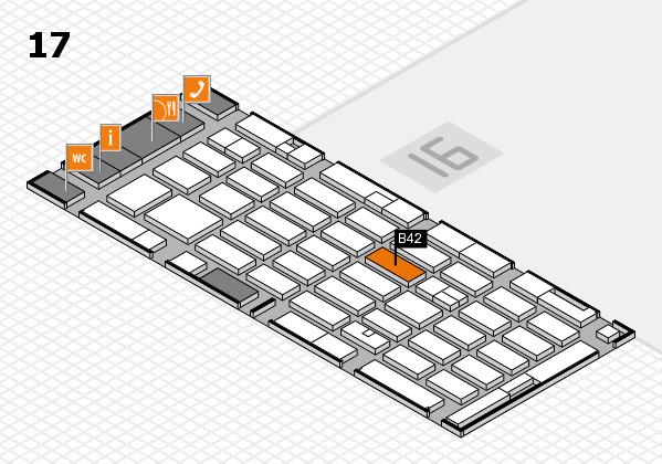 MEDICA 2016 hall map (Hall 17): stand B42