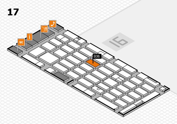 MEDICA 2016 hall map (Hall 17): stand B38