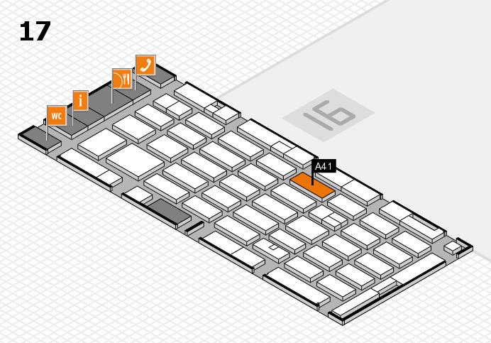 MEDICA 2016 hall map (Hall 17): stand A41