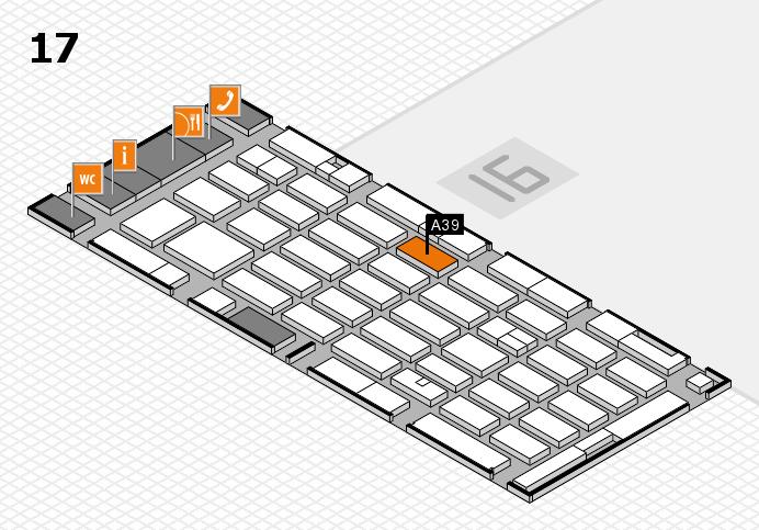 MEDICA 2016 hall map (Hall 17): stand A39