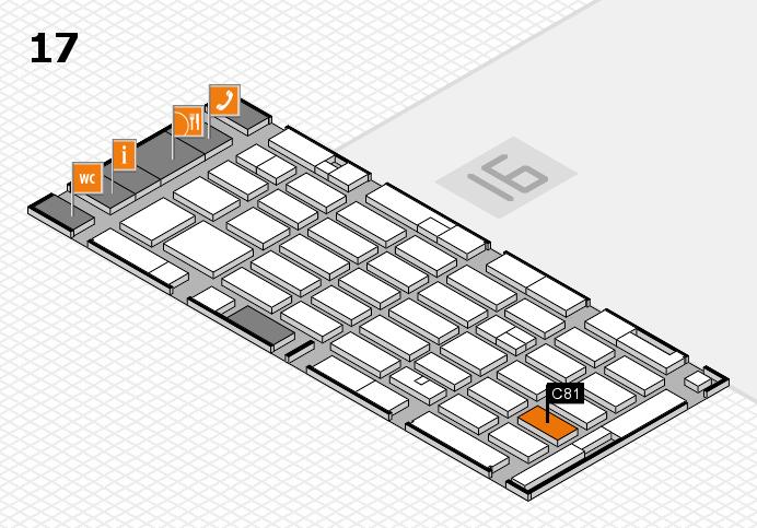 MEDICA 2016 hall map (Hall 17): stand C81