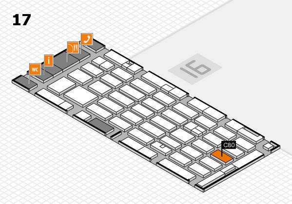 MEDICA 2016 hall map (Hall 17): stand C80