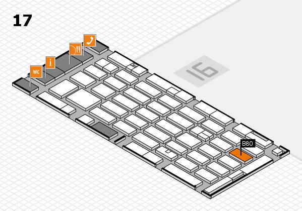 MEDICA 2016 hall map (Hall 17): stand B80