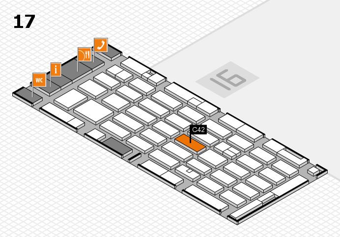MEDICA 2016 hall map (Hall 17): stand C42