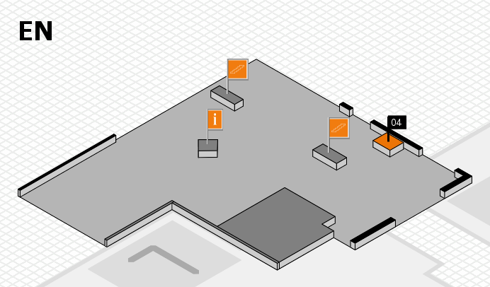 MEDICA 2016 Hallenplan (Eingang Nord): Stand 04