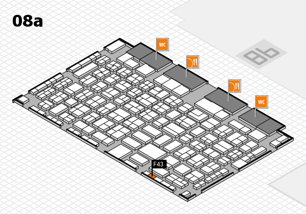 COMPAMED 2017 hall map (Hall 8a): stand F43
