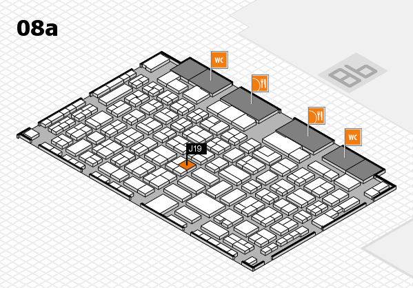 COMPAMED 2017 hall map (Hall 8a): stand J19