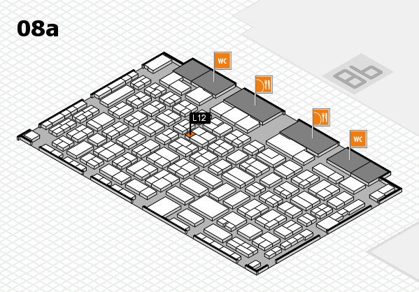 COMPAMED 2017 hall map (Hall 8a): stand L12
