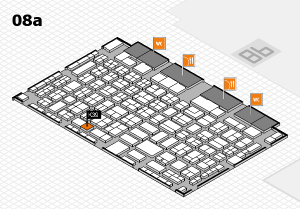 COMPAMED 2017 hall map (Hall 8a): stand K39