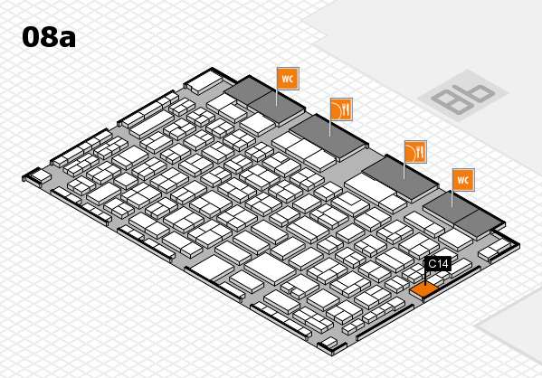 COMPAMED 2017 hall map (Hall 8a): stand C14