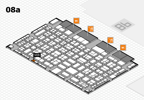 COMPAMED 2017 hall map (Hall 8a): stand M38