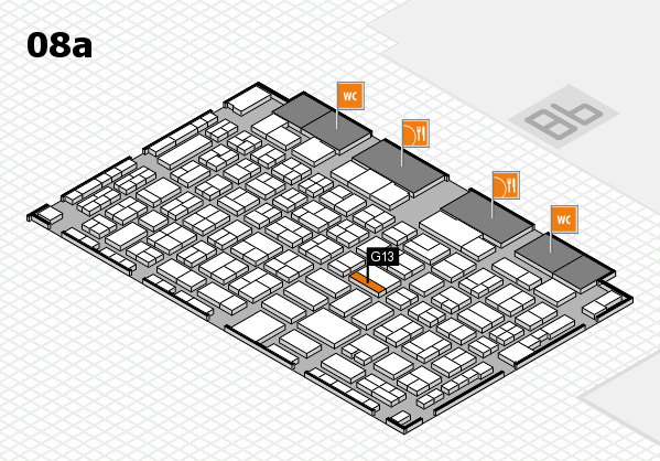 COMPAMED 2017 hall map (Hall 8a): stand G13