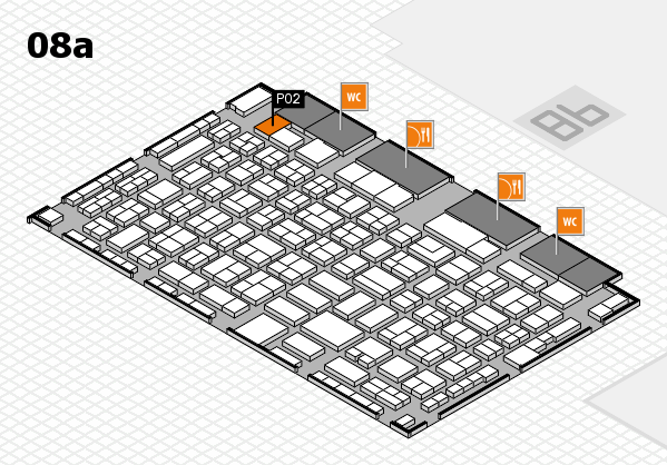 COMPAMED 2017 hall map (Hall 8a): stand P02