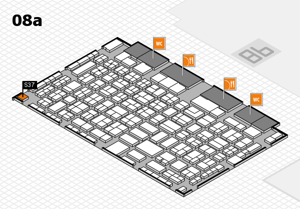 COMPAMED 2017 hall map (Hall 8a): stand S37