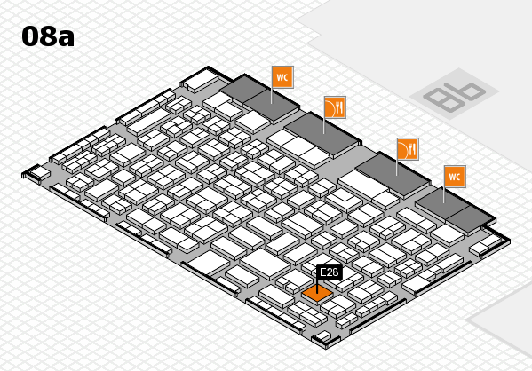 COMPAMED 2017 hall map (Hall 8a): stand E28