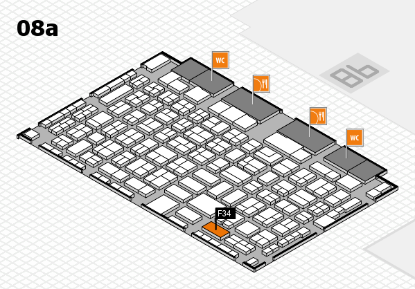 COMPAMED 2017 hall map (Hall 8a): stand F34