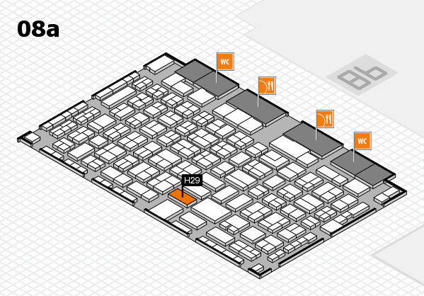 COMPAMED 2017 hall map (Hall 8a): stand H29