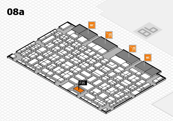COMPAMED 2017 hall map (Hall 8a): stand F35