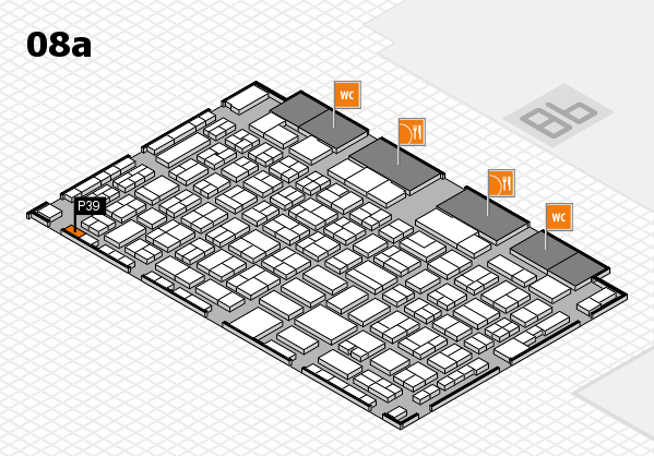 COMPAMED 2017 Hallenplan (Halle 8a): Stand P39