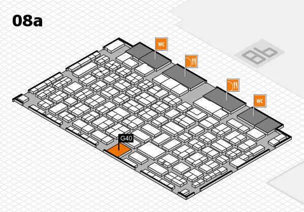 COMPAMED 2017 hall map (Hall 8a): stand G40