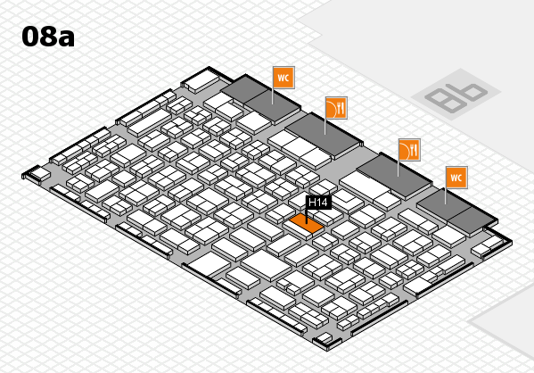 COMPAMED 2017 hall map (Hall 8a): stand H14