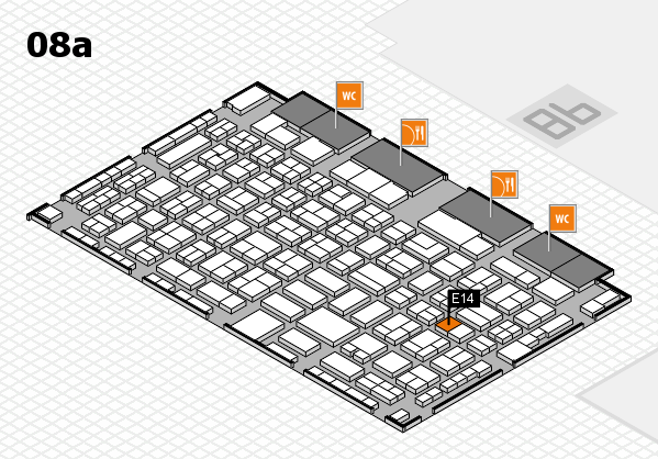 COMPAMED 2017 hall map (Hall 8a): stand E14