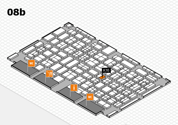 COMPAMED 2017 hall map (Hall 8b): stand K16