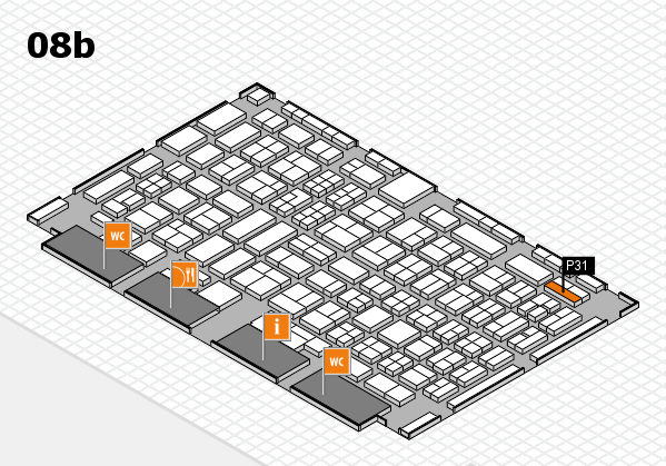 COMPAMED 2017 hall map (Hall 8b): stand P31