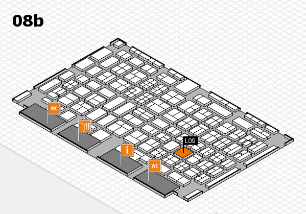 COMPAMED 2017 hall map (Hall 8b): stand L09
