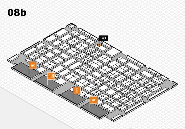 COMPAMED 2017 hall map (Hall 8b): stand F43