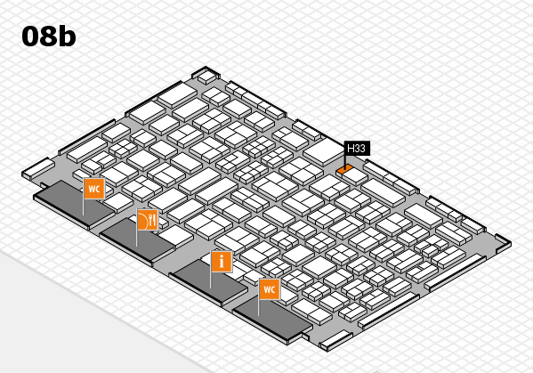 COMPAMED 2017 hall map (Hall 8b): stand H33