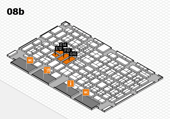 COMPAMED 2017 hall map (Hall 8b): stand E12, stand G10