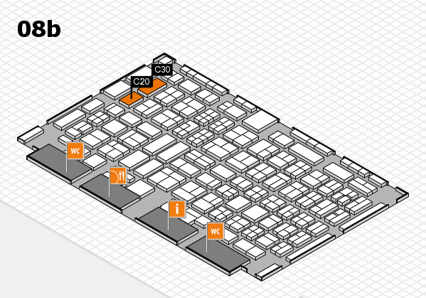 COMPAMED 2017 hall map (Hall 8b): stand C20, stand C30
